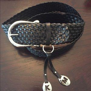 Black Michael Kors woven belt!